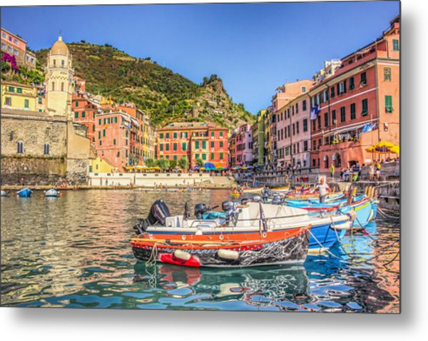 Reflections Of Italy Metal Print