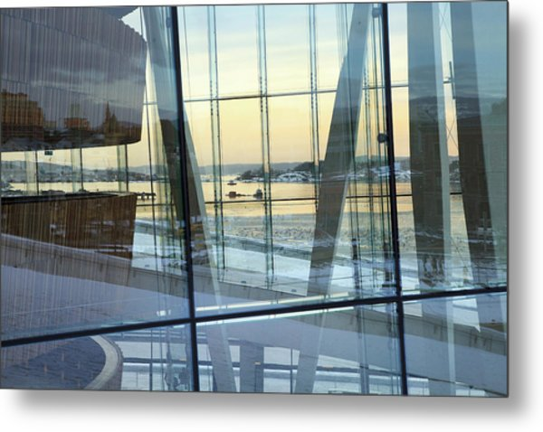 Reflections Of Oslo Metal Print