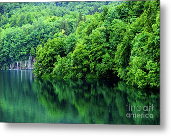 Reflections Of Plitvice, Plitvice Lakes National Park, Croatia Metal Print