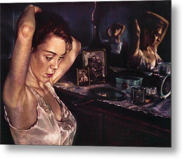 Reflections Of Sasha Metal Print by Jean Hildebrant