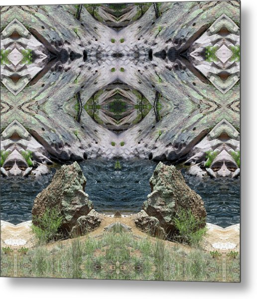 Reflections Of Self Before Entering The Vortex Metal Print