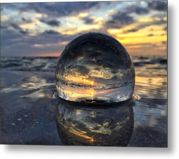 Reflections Of The Crystal Ball Metal Print