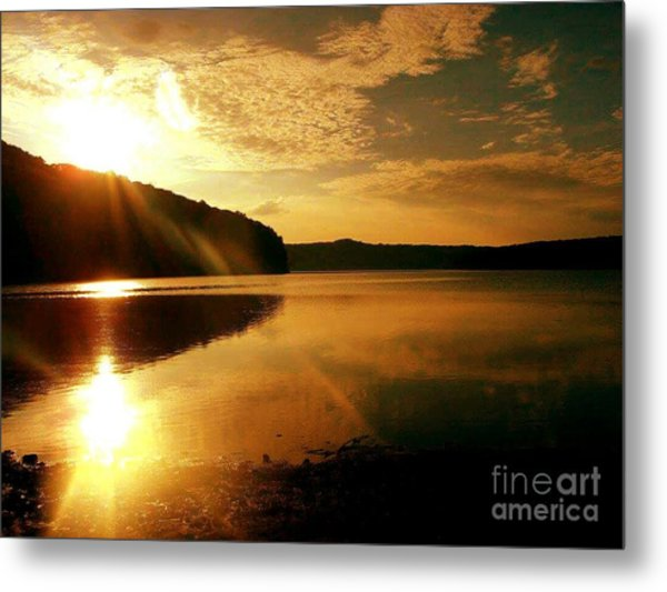 Reflections Of The Day Metal Print