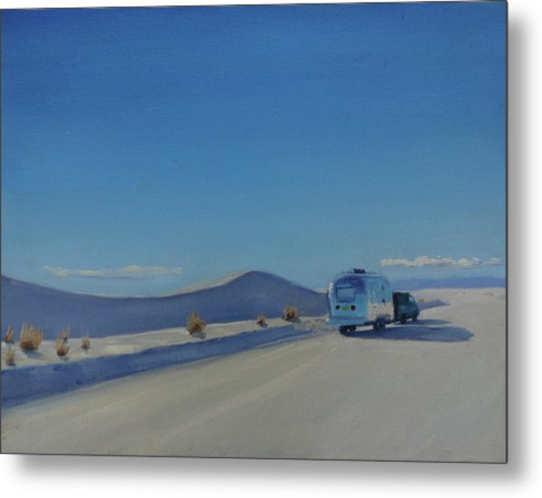 Reflections Of White Sands Metal Print