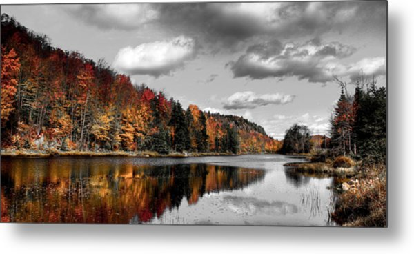 Reflections On Bald Mountain Pond II Metal Print