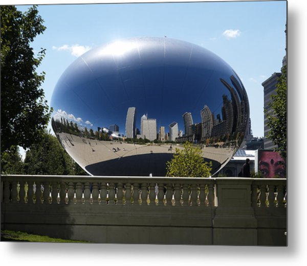 Reflections On Chicago Metal Print