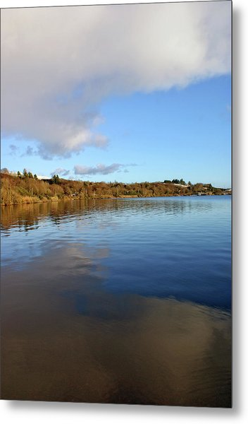 Reflections On Lough Fea. Metal Print