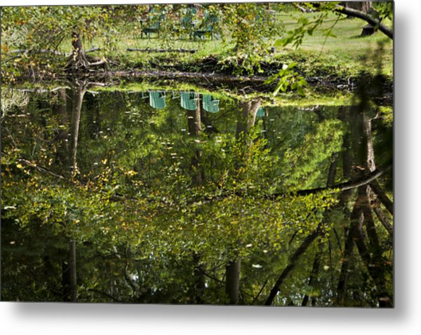 Reflections On Sitting Metal Print