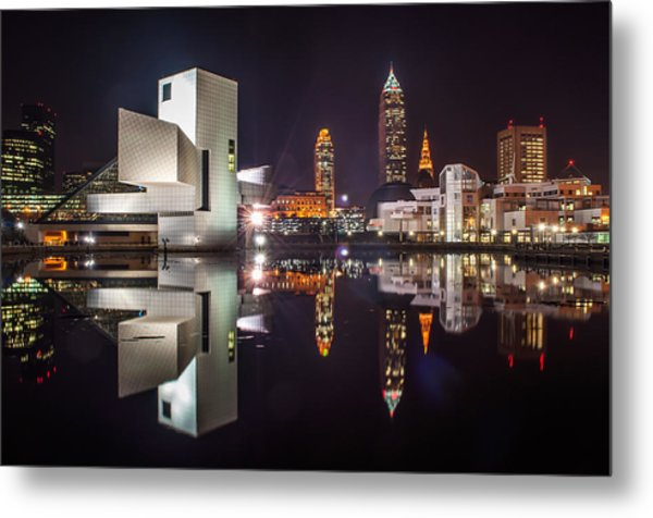 Reflections On The Harbor Metal Print