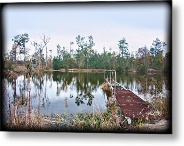 Reflections On The Lake Metal Print by Bill Perry