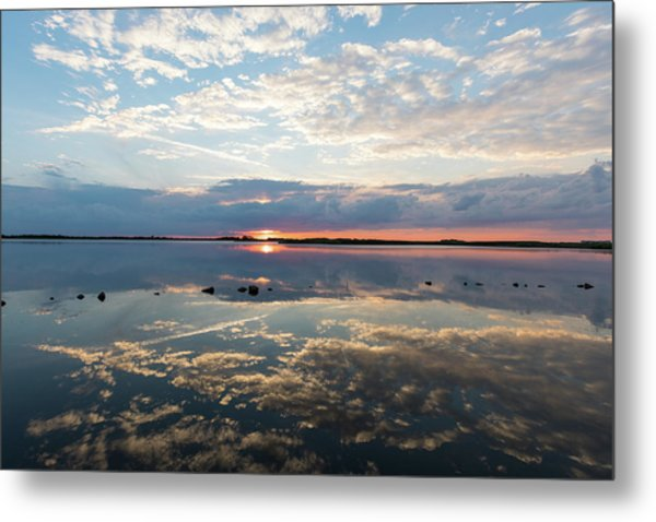 Reflections Over Back Bay Metal Print
