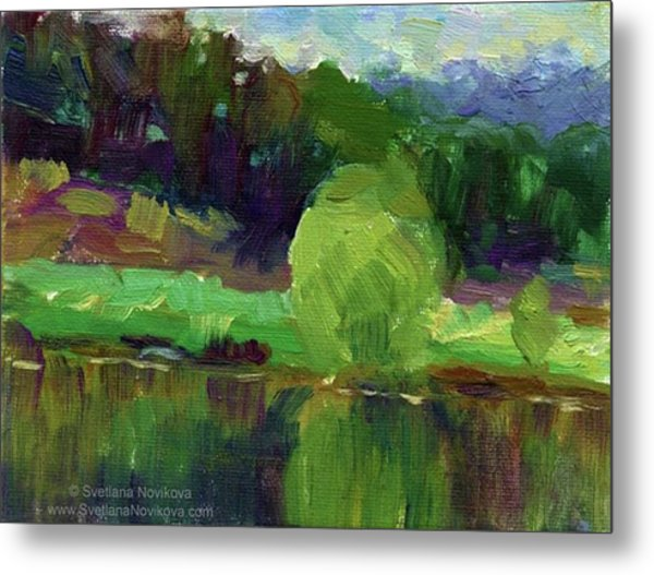 Reflections Painting Study By Svetlana Metal Print