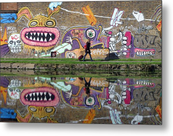 Reflective Canal 11 Metal Print by Jez C Self