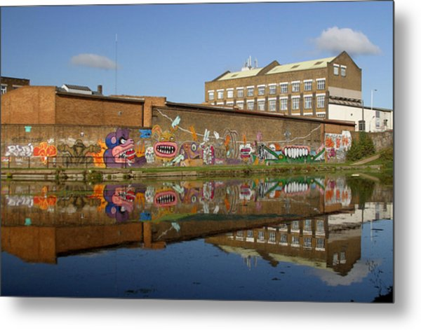 Reflective Canal 4 Metal Print by Jez C Self