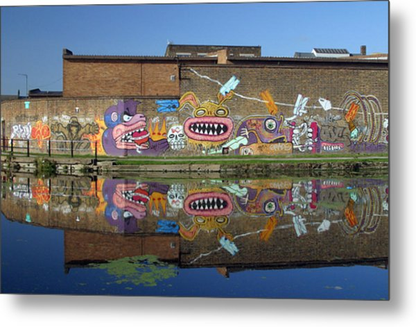 Reflective Canal 5 Metal Print by Jez C Self