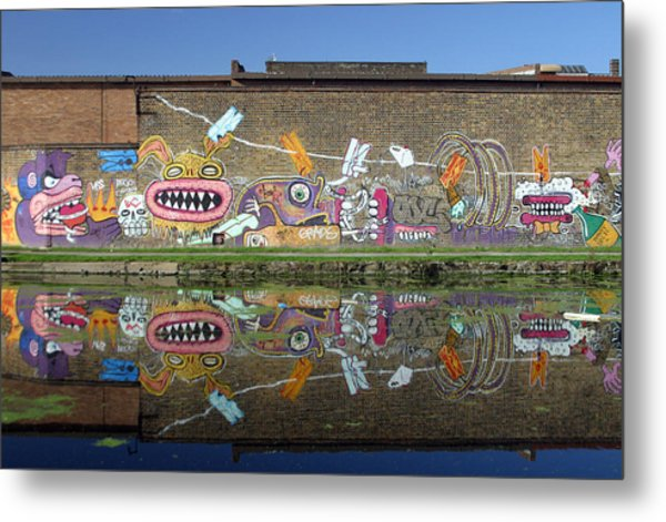 Reflective Canal 7 Metal Print by Jez C Self