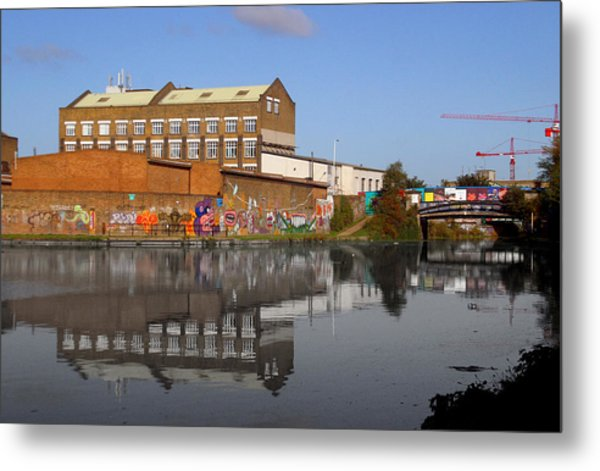Reflective Canal Metal Print by Jez C Self