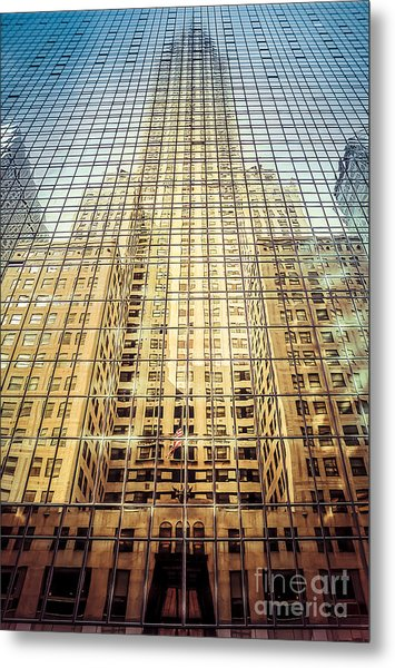 Reflective Empire Metal Print