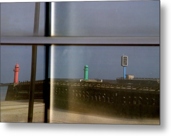 Reflective Lighthouses Metal Print by Jez C Self