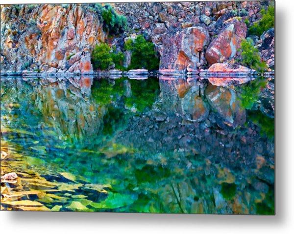 Reflective Pool Metal Print