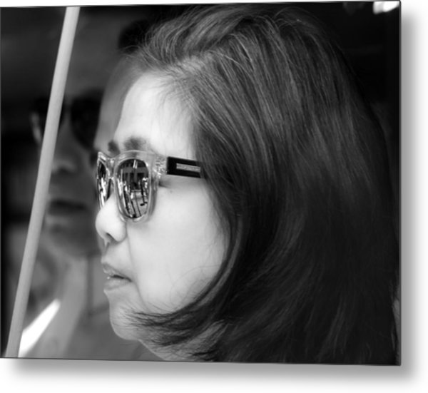 Reflective Sunglasses Metal Print by Robert Ullmann