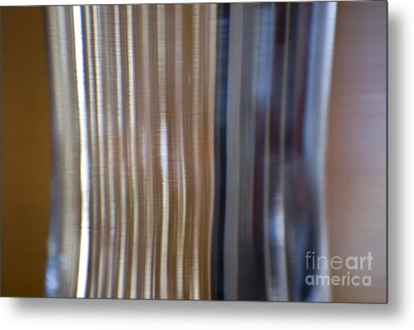 Refraction In Glass Metal Print