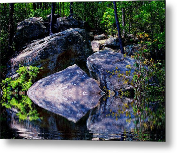 Refreshing Place On A Hot Day Metal Print