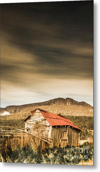 Regional Ranch Ruins Metal Print