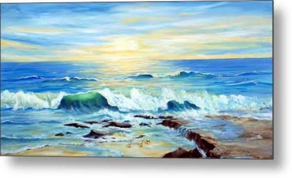 Rehoboth Beach Surf Metal Print