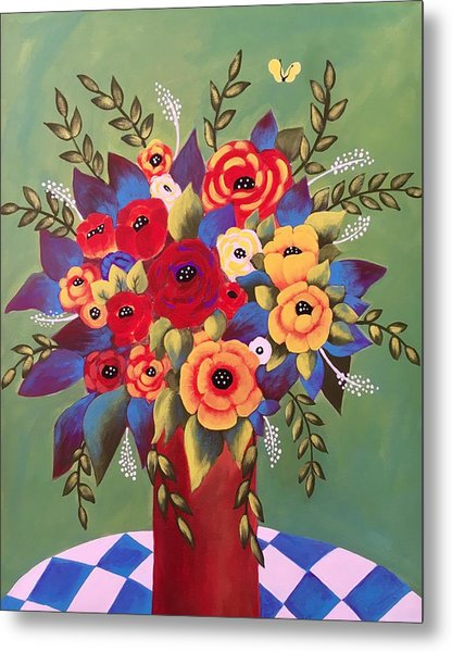 Metal Print featuring the painting Rejoice by Jan Oliver-Schultz