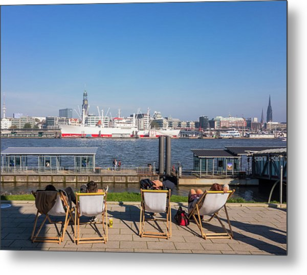 Relax On The Elbe Metal Print