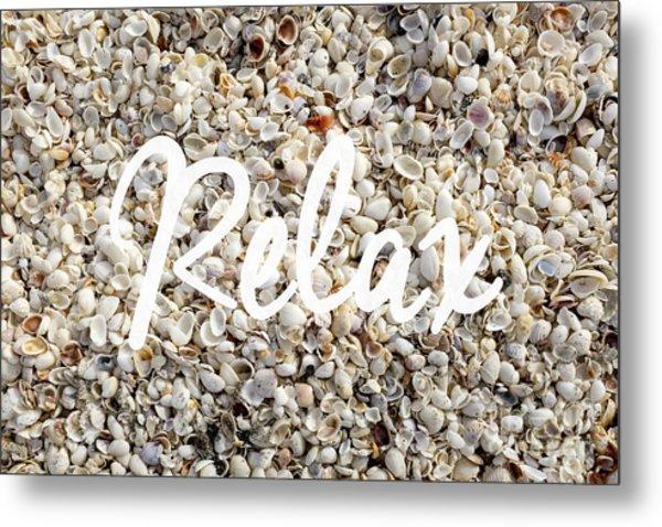Relax Seashell Background Metal Print