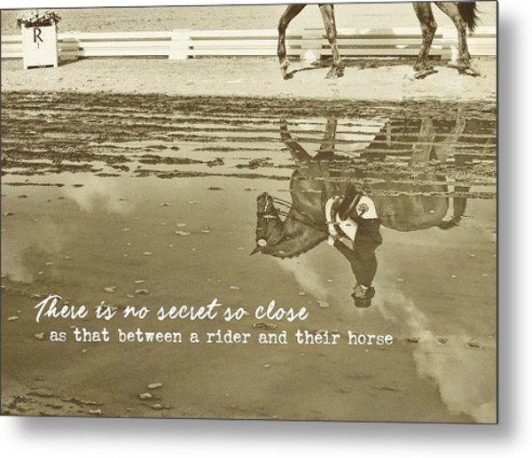 Relaxation Reflection Quote Metal Print