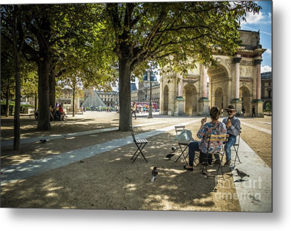 Relaxing Afternoon In Paris Metal Print
