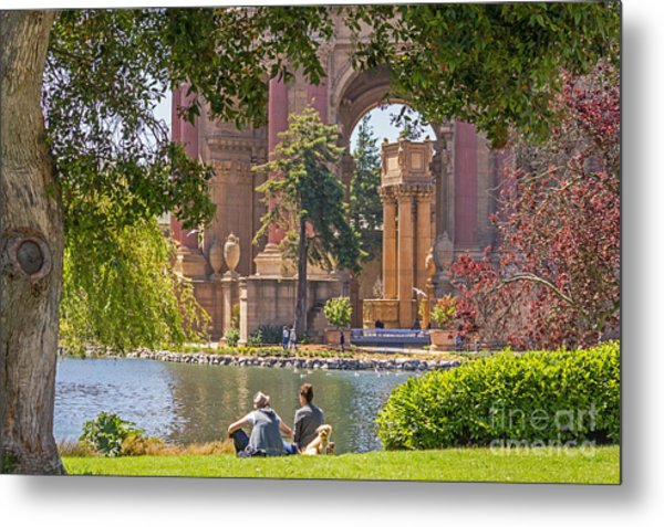 Relaxing At The Palace Metal Print