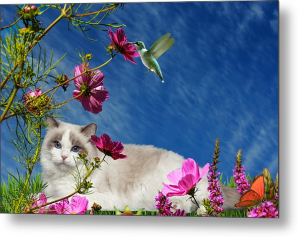 Relaxing Metal Print