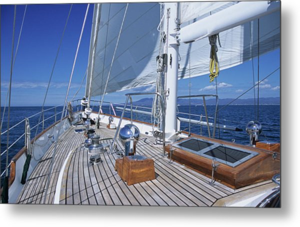 Relaxing On Deck Metal Print