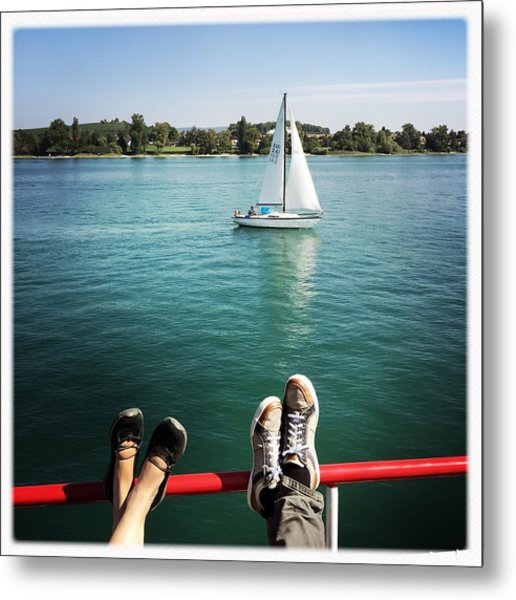 Relaxing Summer Boat Trip Metal Print