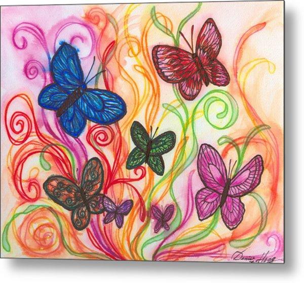 Releasing Butterflies I Metal Print