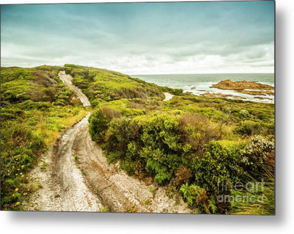 Remote Australia Beach Trail Metal Print