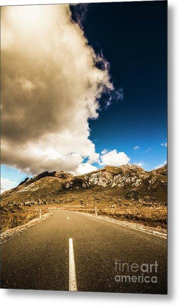 Remote Rural Roads Metal Print