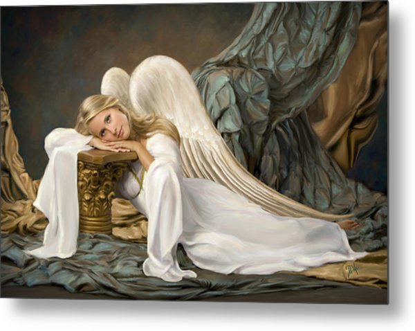 Renaissance Angel Metal Print by Daria Doyle