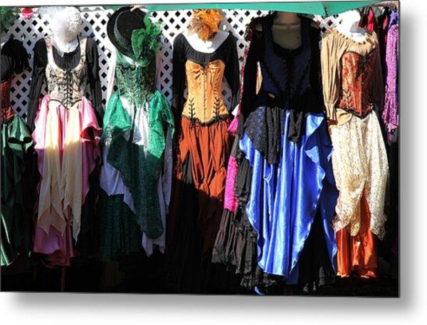 Renaissance Dresses Metal Print