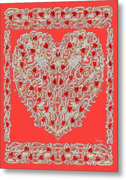 Renaissance Style Heart Metal Print