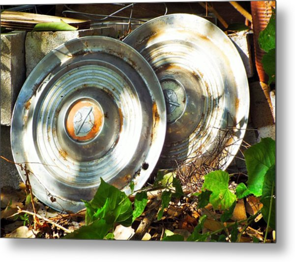 Replaced With Spinners Metal Print