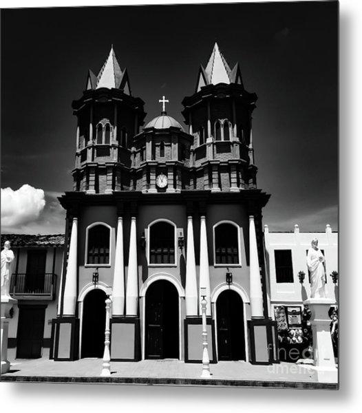 Replica Church In El Penol Metal Print