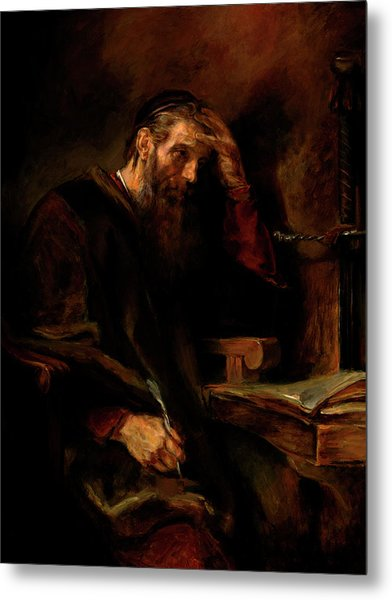 Replica Of Rembrandt's Apostle Paul Metal Print
