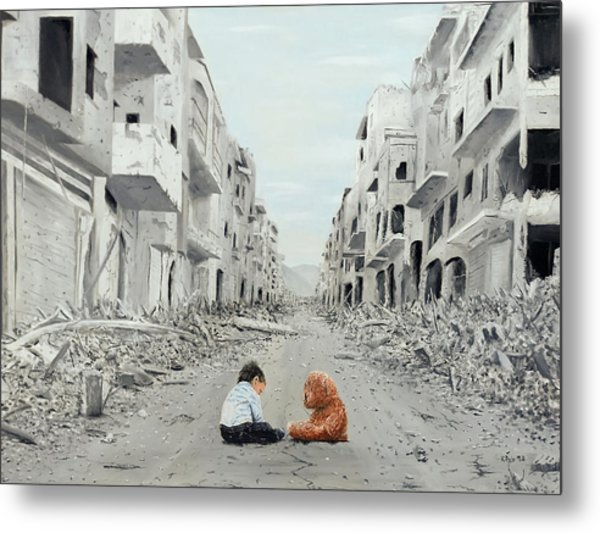 Metal Print featuring the painting Resilience by Kevin Daly