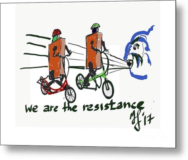 Resistance Metal Print