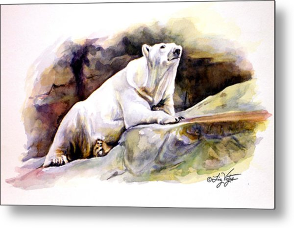 Resting Polar Bear Metal Print